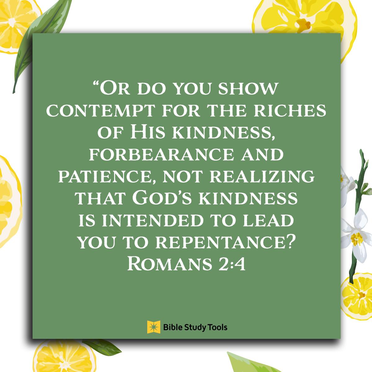 Romans 2:4, inspirational image