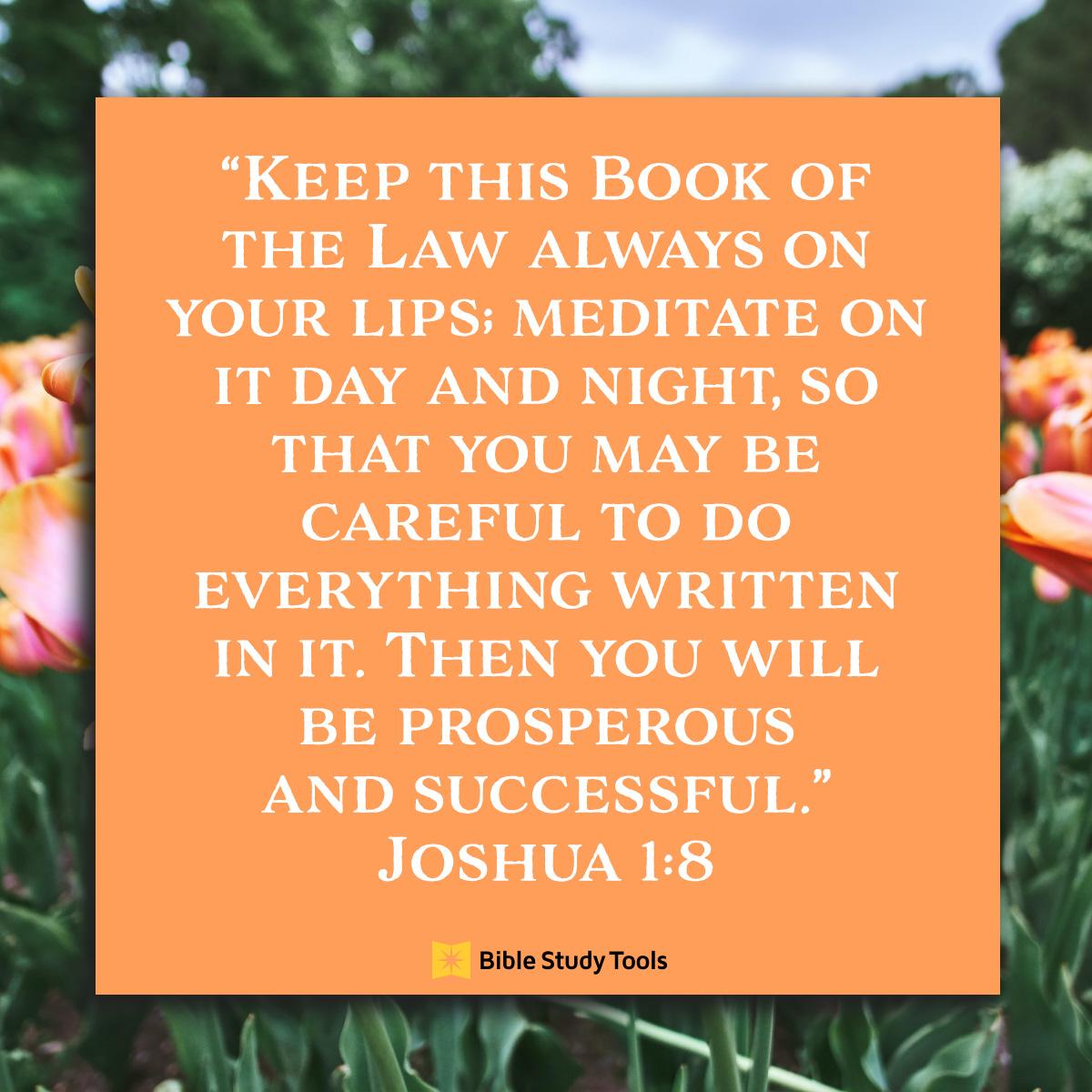 Joshua 1:8; inspirational image