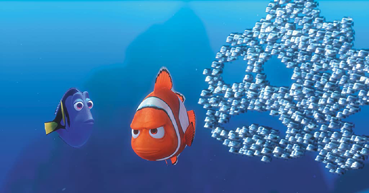 Marlin and Nemo in Finding Nemo, a dad movie for the whole family