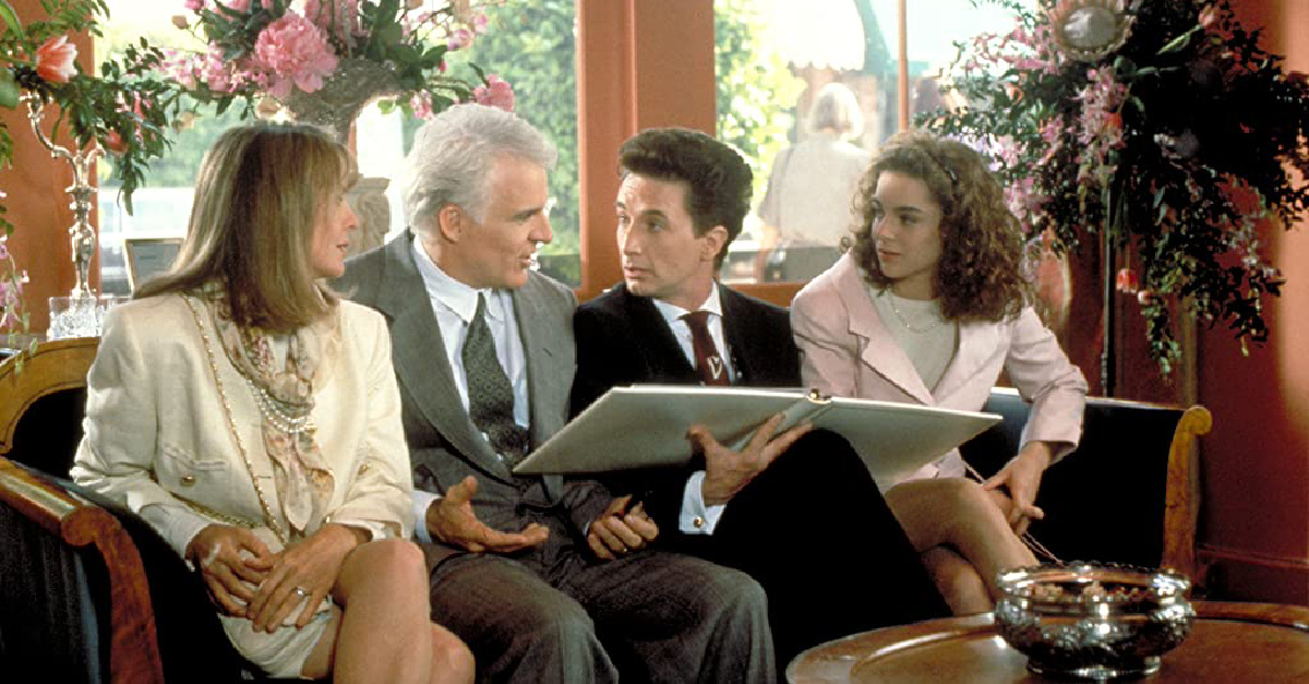 Steve Martin in Father of the Bride, a Steve Martin movie that will make you laugh