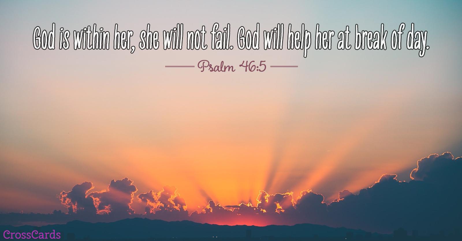 Psalm 46:5 ecard, online card