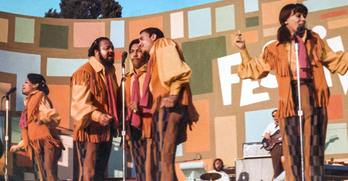 A music group at Harlem Cultural Festival, Summer Soul