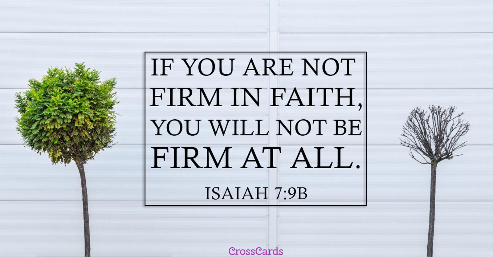 Isaiah 7:9 ecard, online card