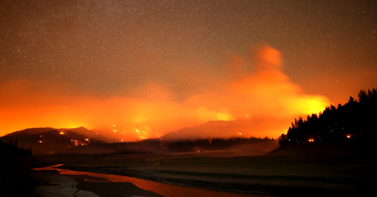 Large Wildfires Burn Through the US West
