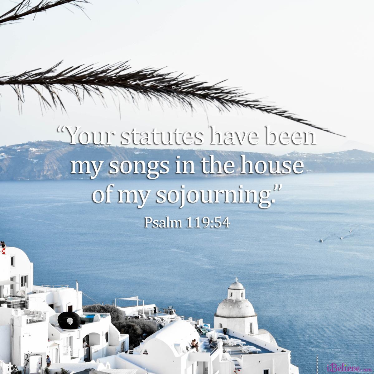 Psalm 119:54, inspirational image