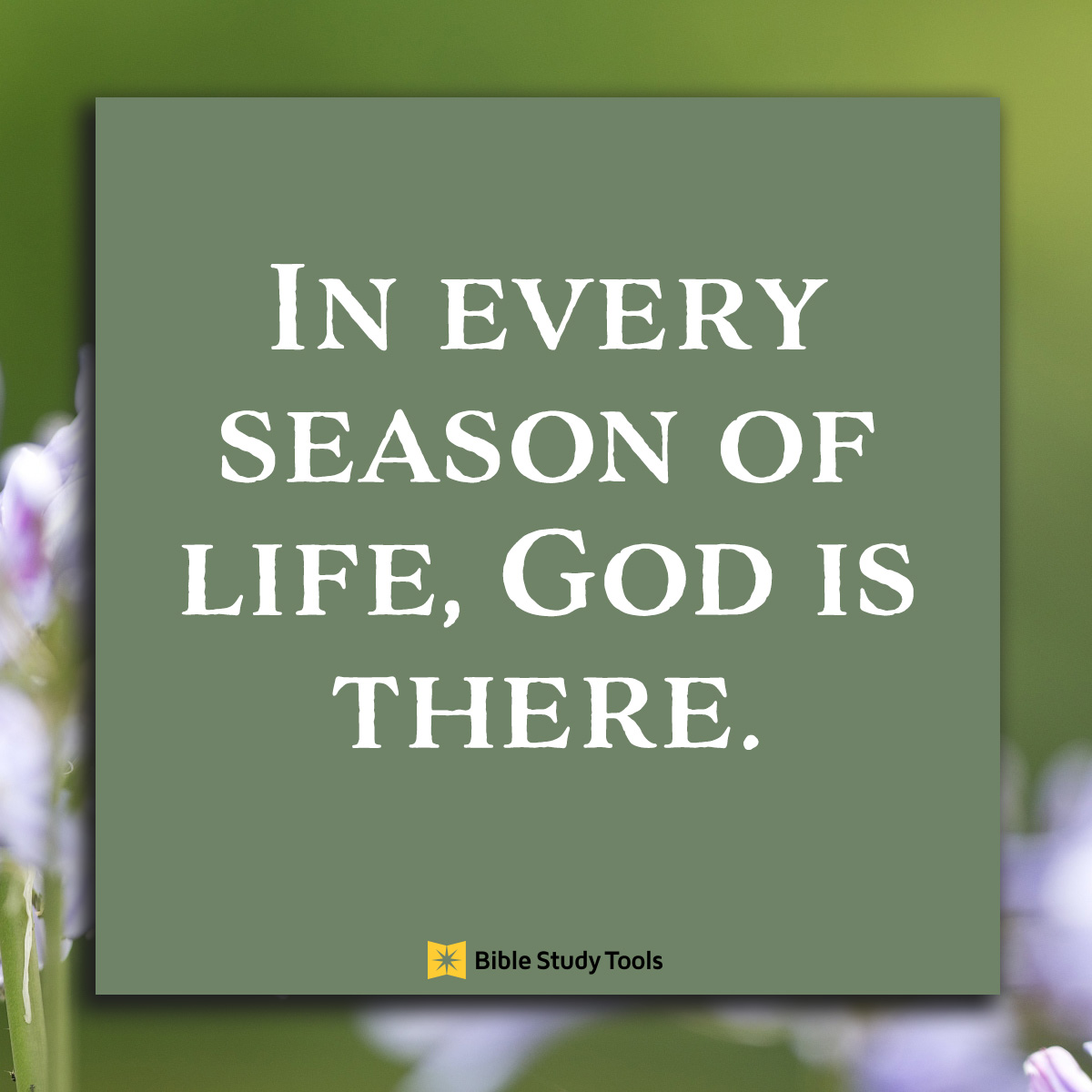 God is there, inspirational image