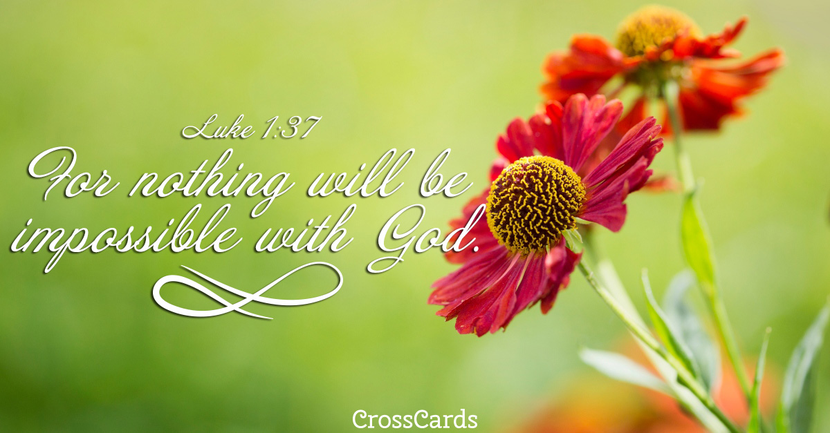 Nothing Is Impossible with God ecard, online card