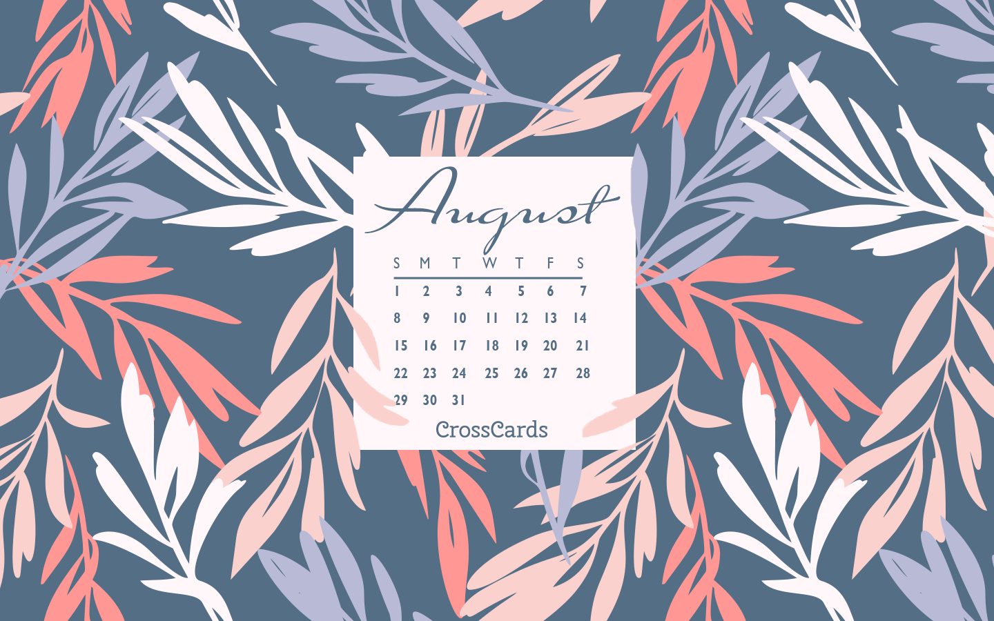 August 2021 - Floral mobile phone wallpaper