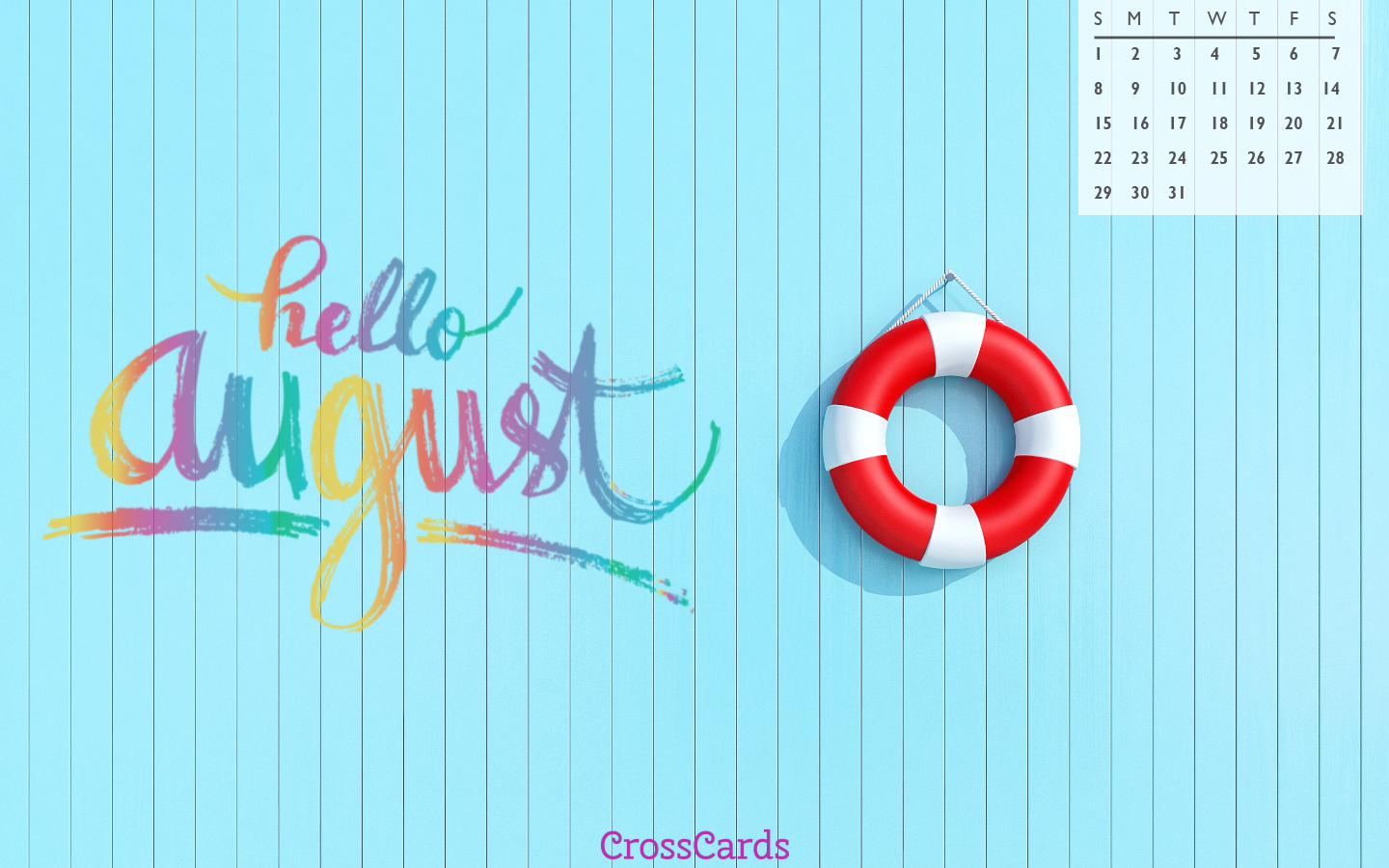 August 2021 - Hello August! mobile phone wallpaper