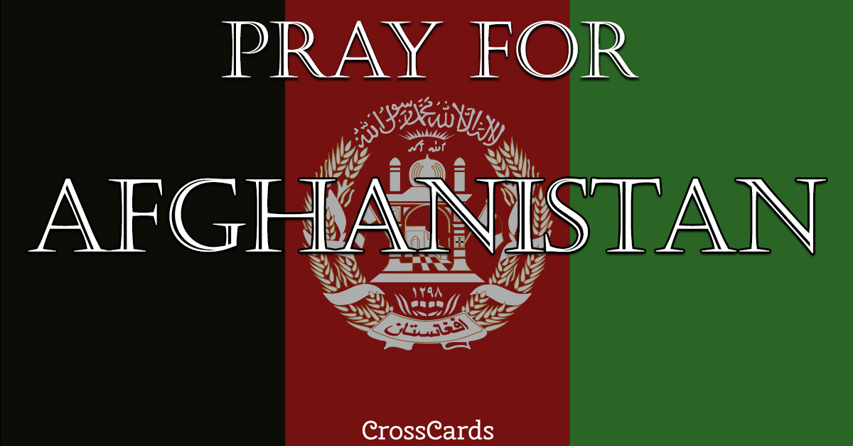 Pray for Afghanistan ecard, online card