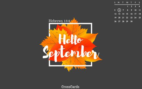 September 2021 - Hello September mobile phone wallpaper