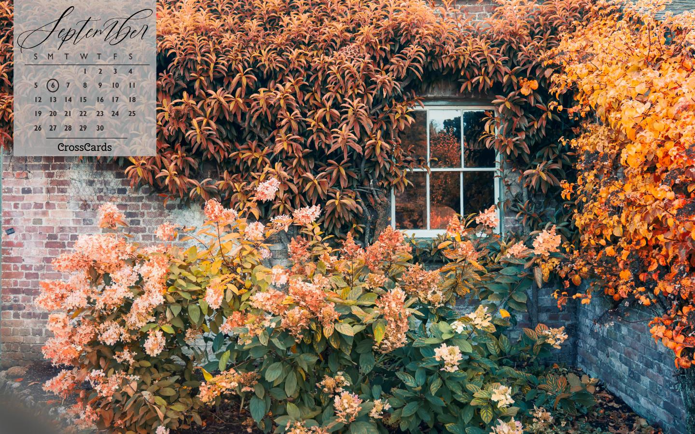 September 2021 - Garden Wall mobile phone wallpaper
