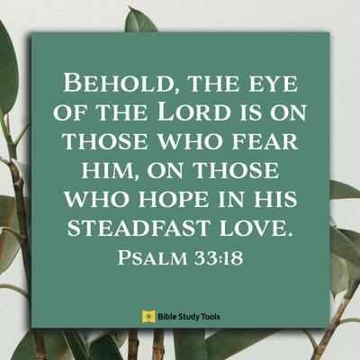 Psalm 33:18, inspirational image
