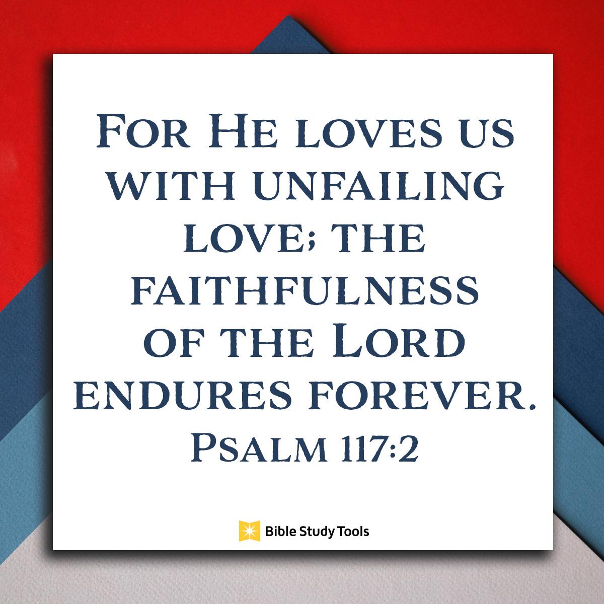Psalm 117:2, inspirational image