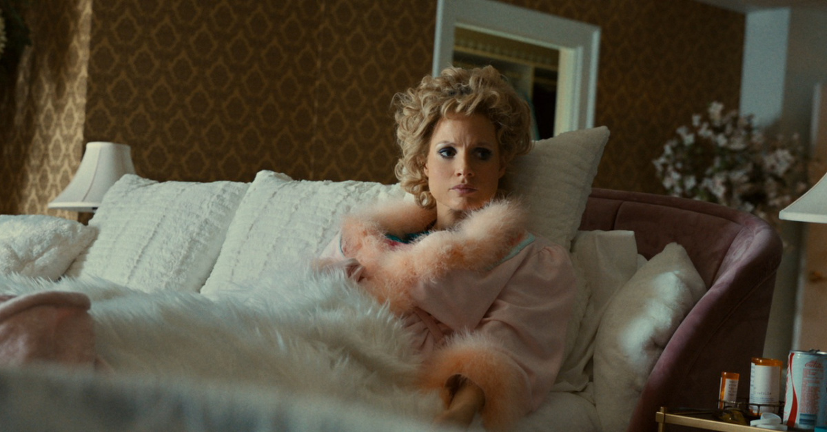 Tammy Faye in bed