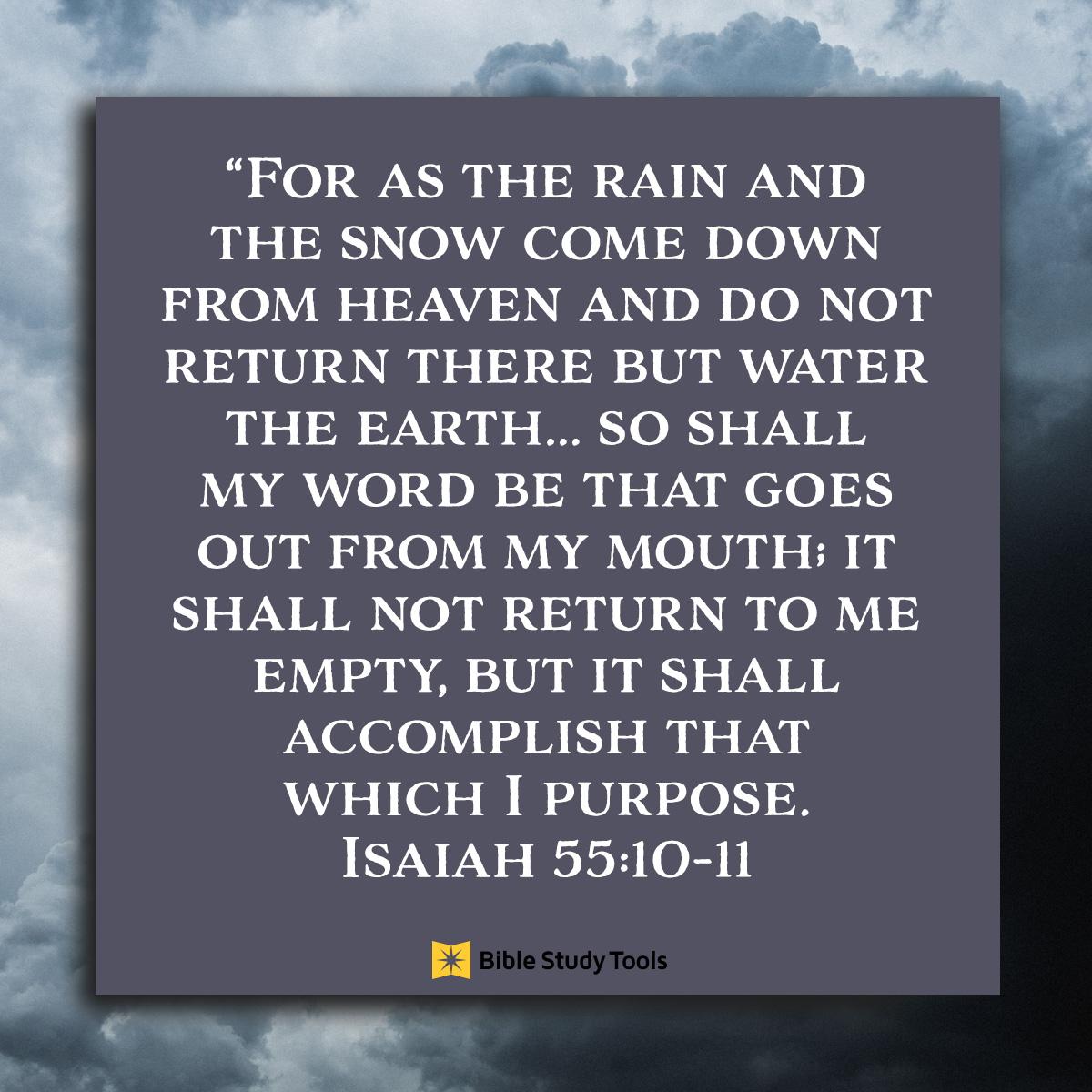 Isaiah 55:10-11, inspirational image