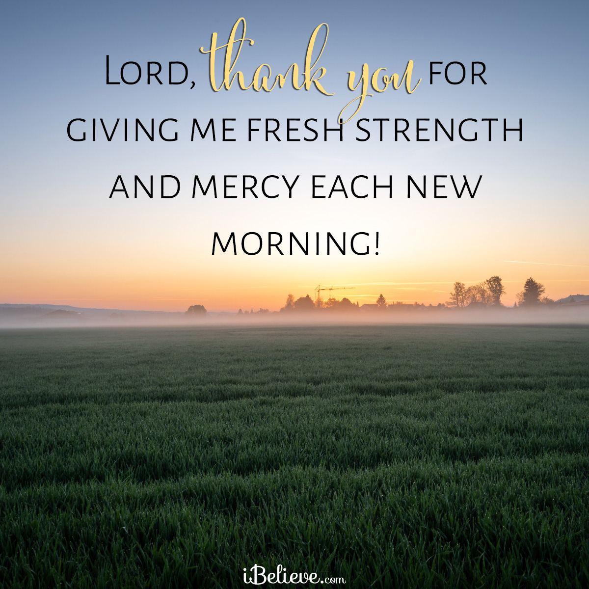 new mercies every morning, inspirational image