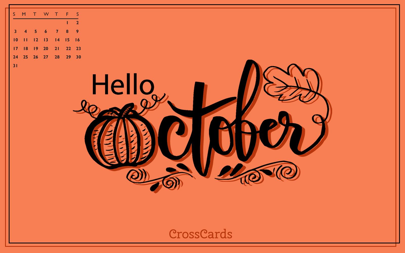 October 2021 - Hello October mobile phone wallpaper