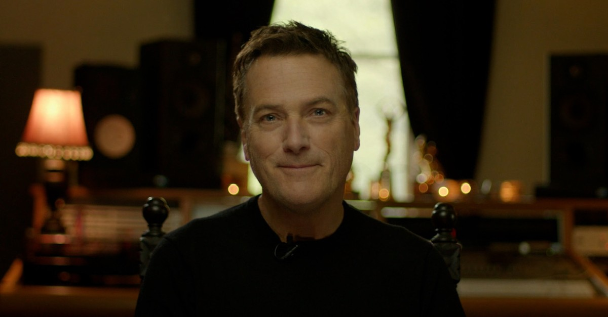 A closeup of Christian music artist Michael W. Smith from the movie Jesus Music