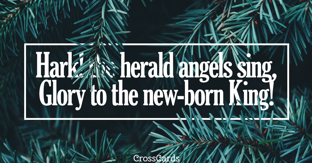 Hark the Herald Angels Sing ecard, online card