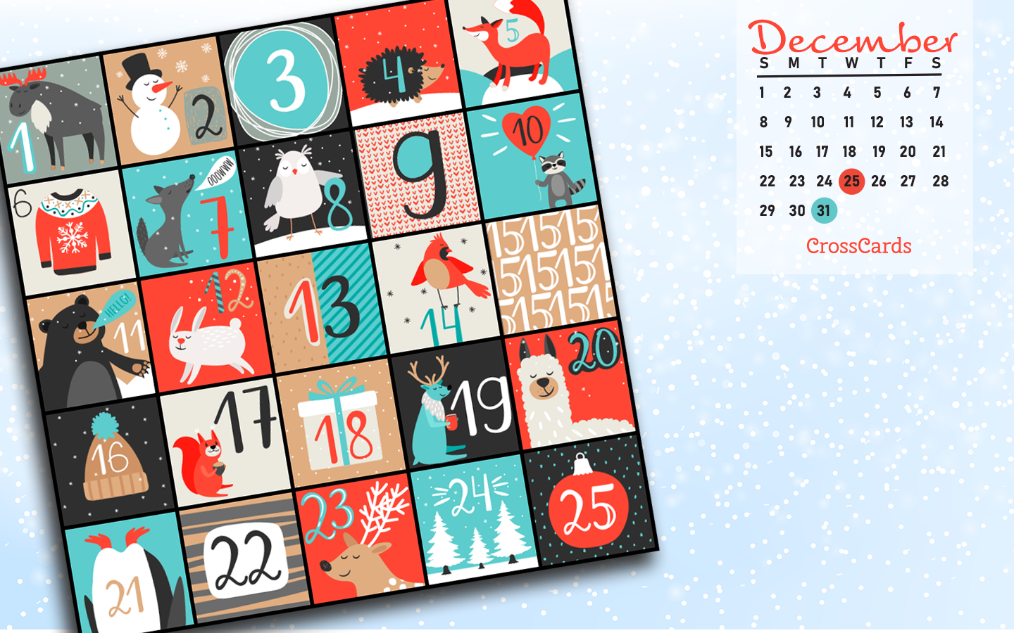 December 2019 - Advent Calendar ecard, online card
