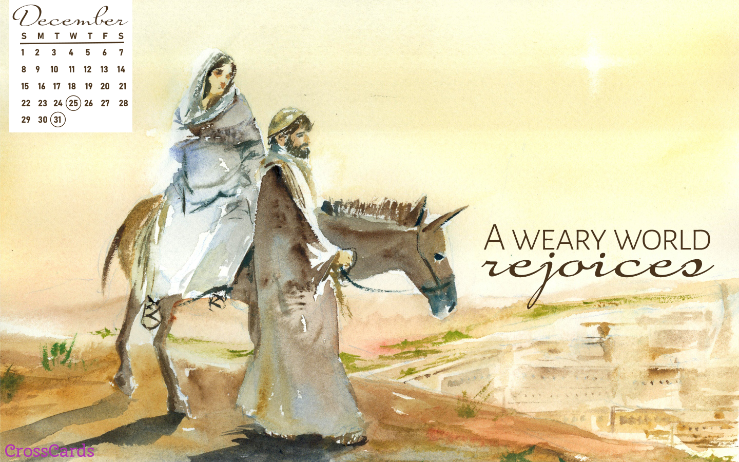 December 2019 - Nativity ecard, online card