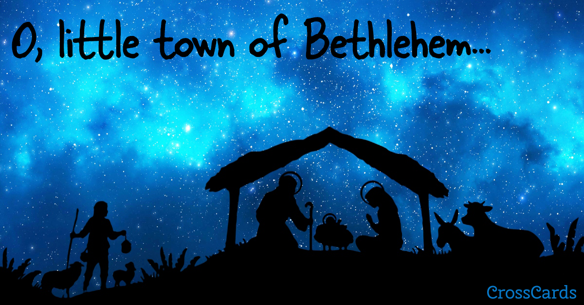 O Little Town of Bethlehem ecard, online card