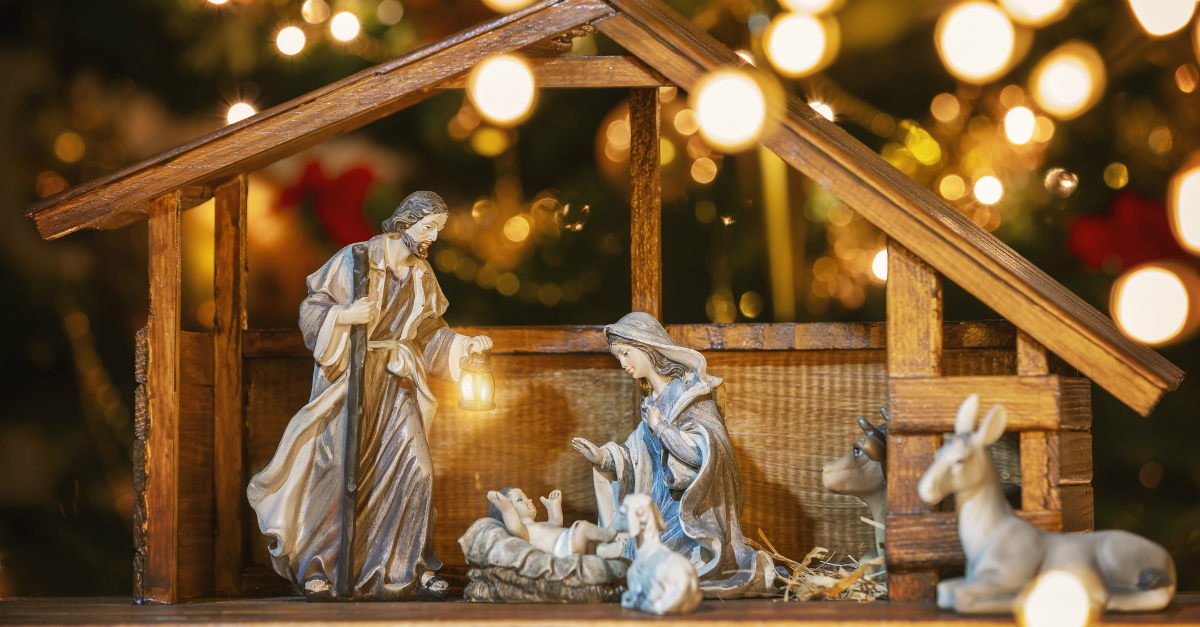 7. Put the Nativity Scene on display.