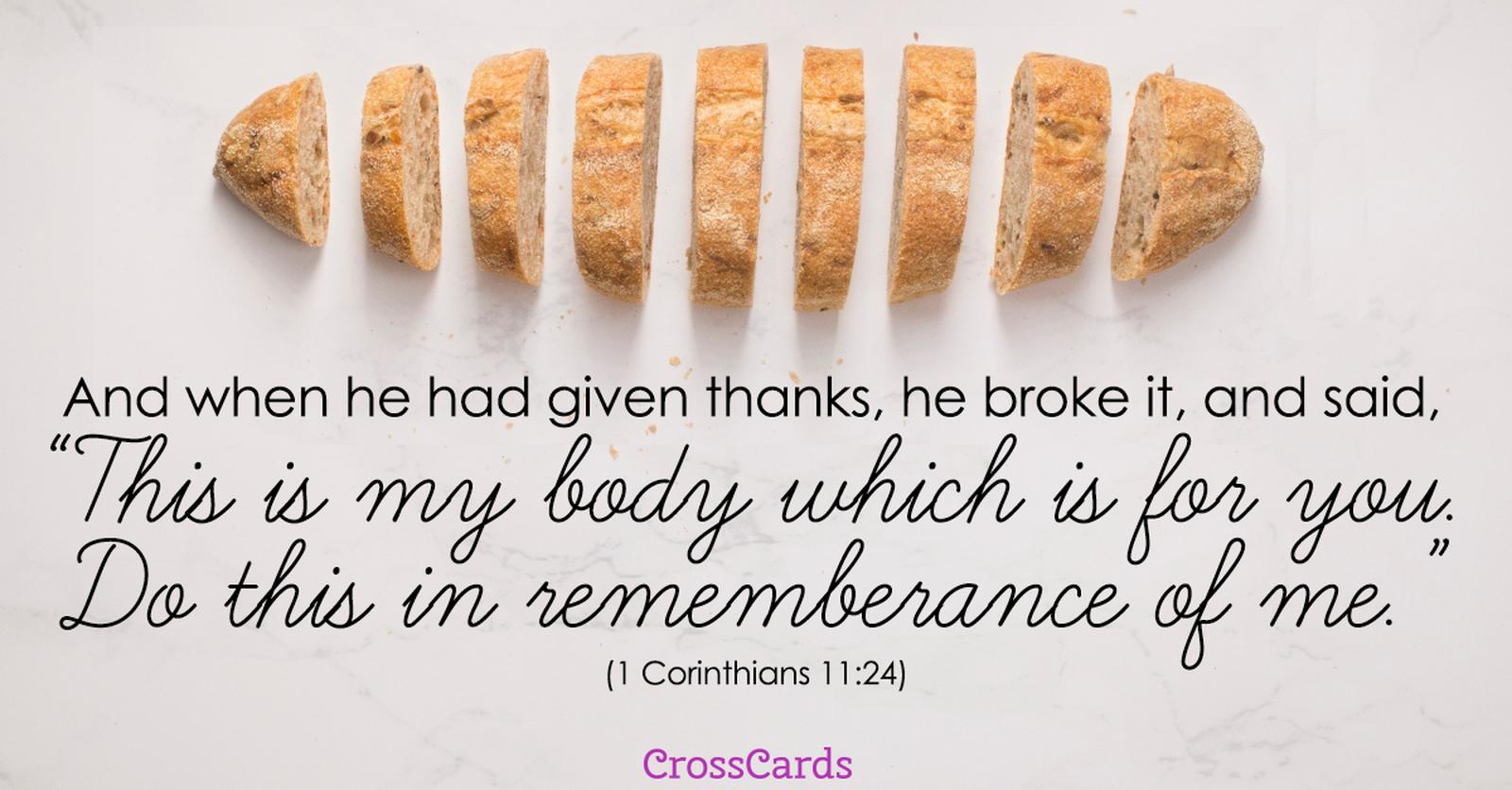 1 Corinthians 11:24 ecard, online card