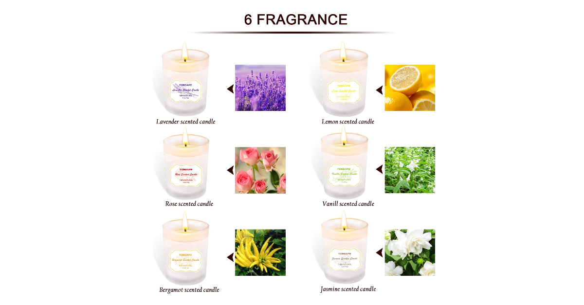 10. Scented Candles with Essential Oil Gift Set