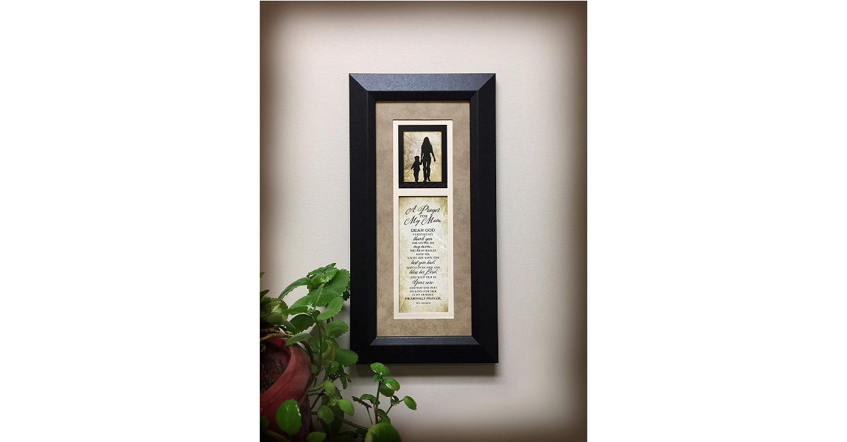 12. Prayer for My Mom Wood Wall Art with Frame