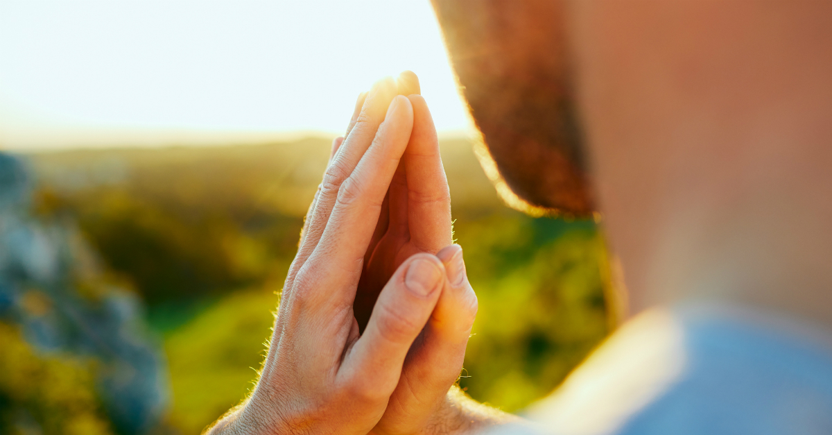 closeup of man praying at sunrise the Lord Is Close to the Brokenhearted