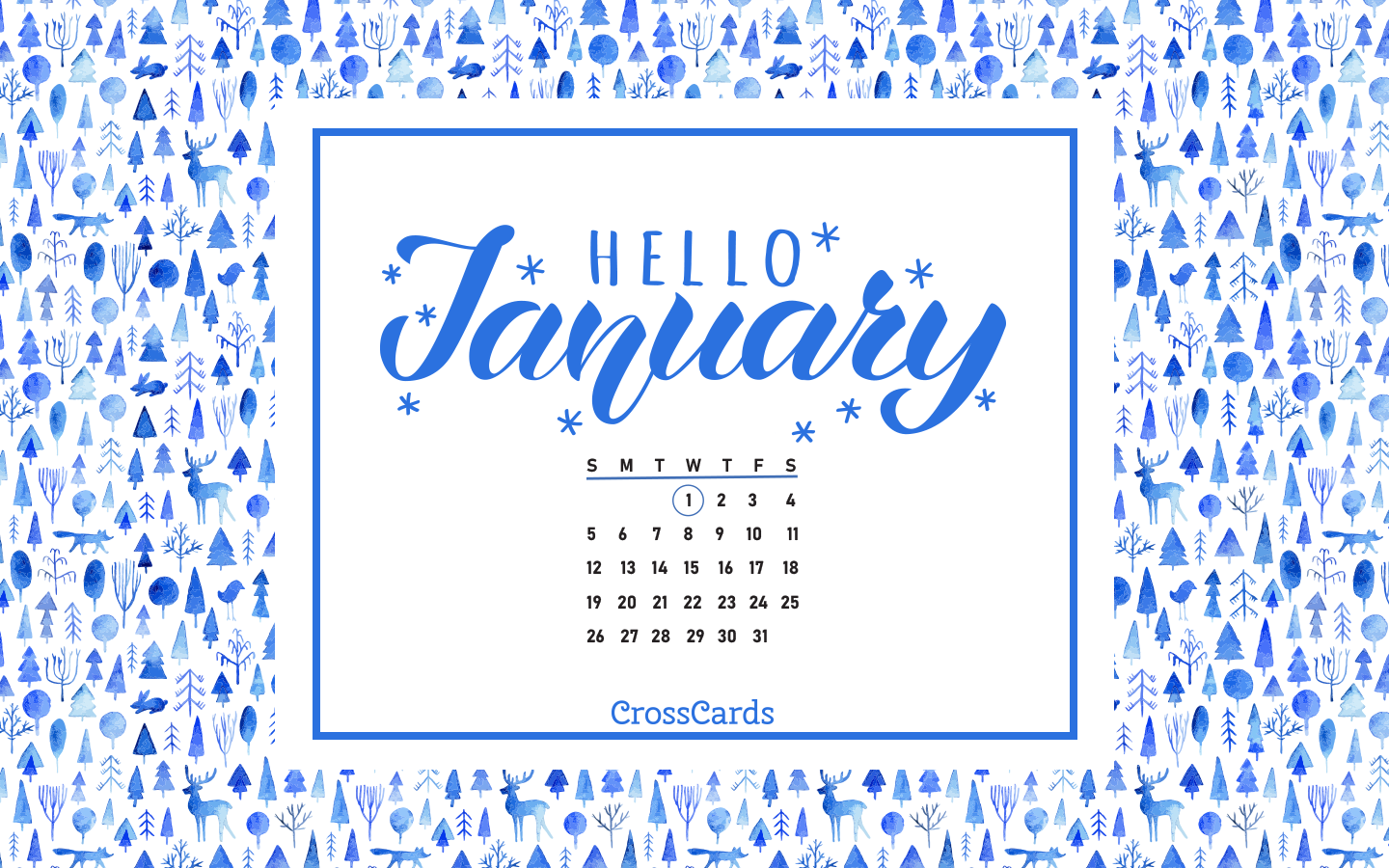 January 2020 - Hello January! ecard, online card