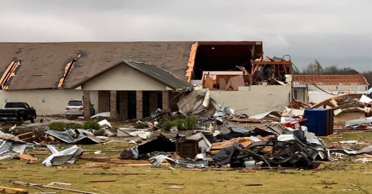 Children Escape Church School Moments before it Is Struck by Tornado