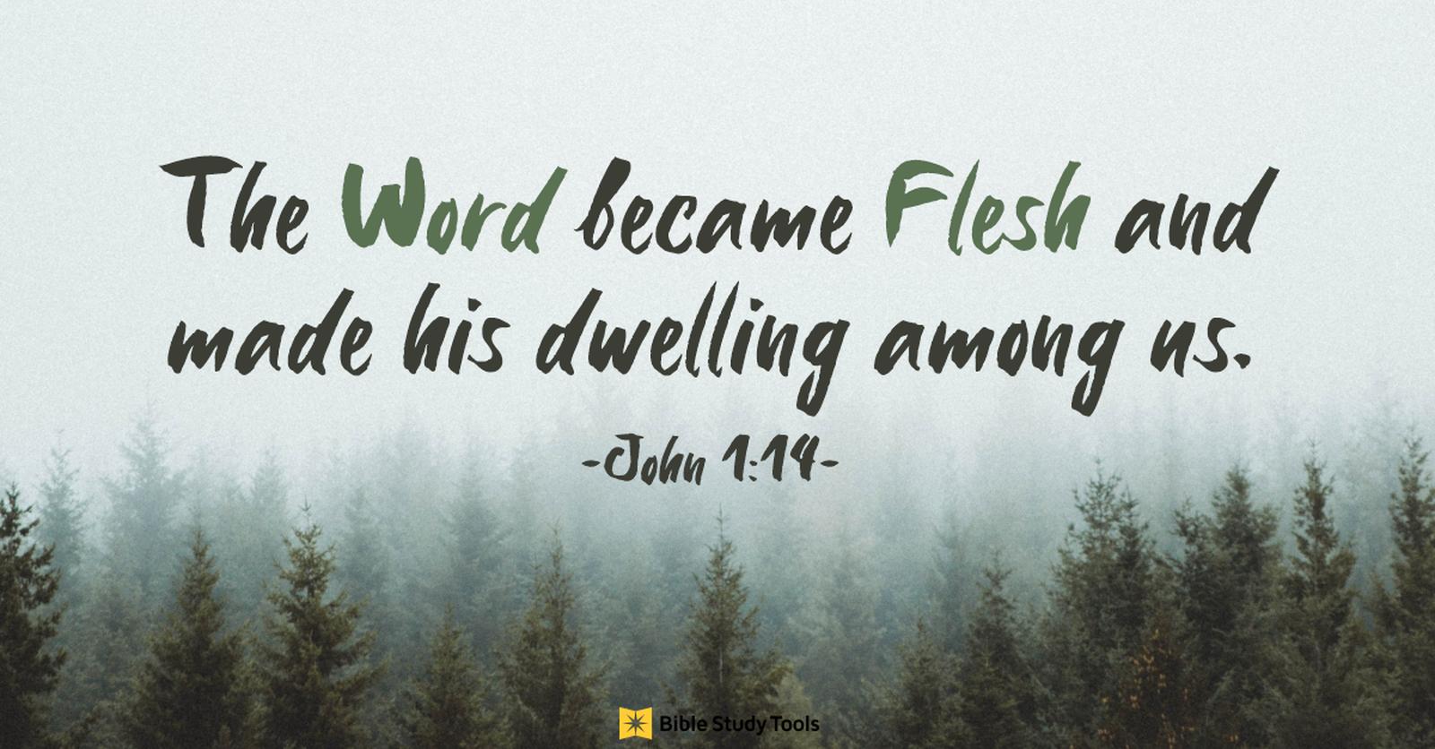 1. God Became Flesh and Dwelt Among Us