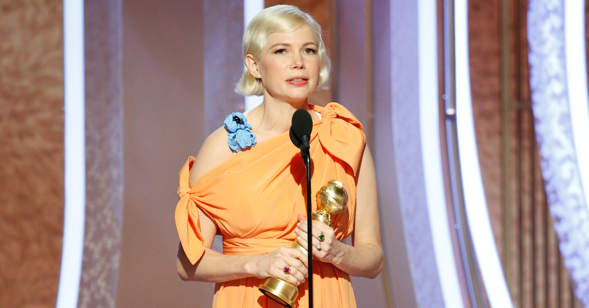 Actress Michelle Williams Shares Thanks for Right to Have Abortion in Golden Globe Acceptance Speech