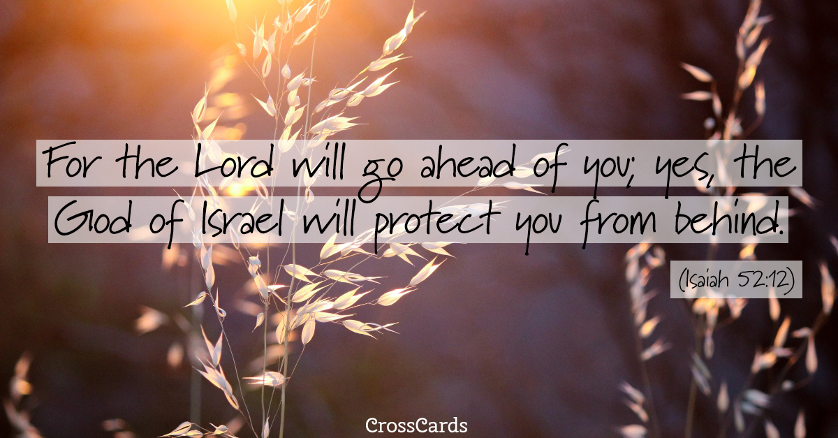 Your Daily Verse - Isaiah 52:12