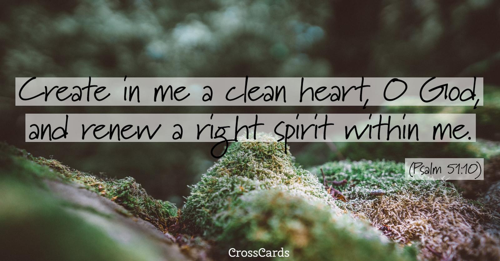 Psalm 51:10 ecard, online card