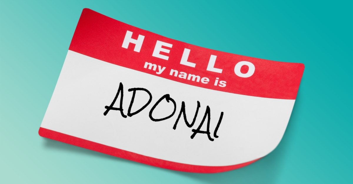 What Does Adonai Mean?