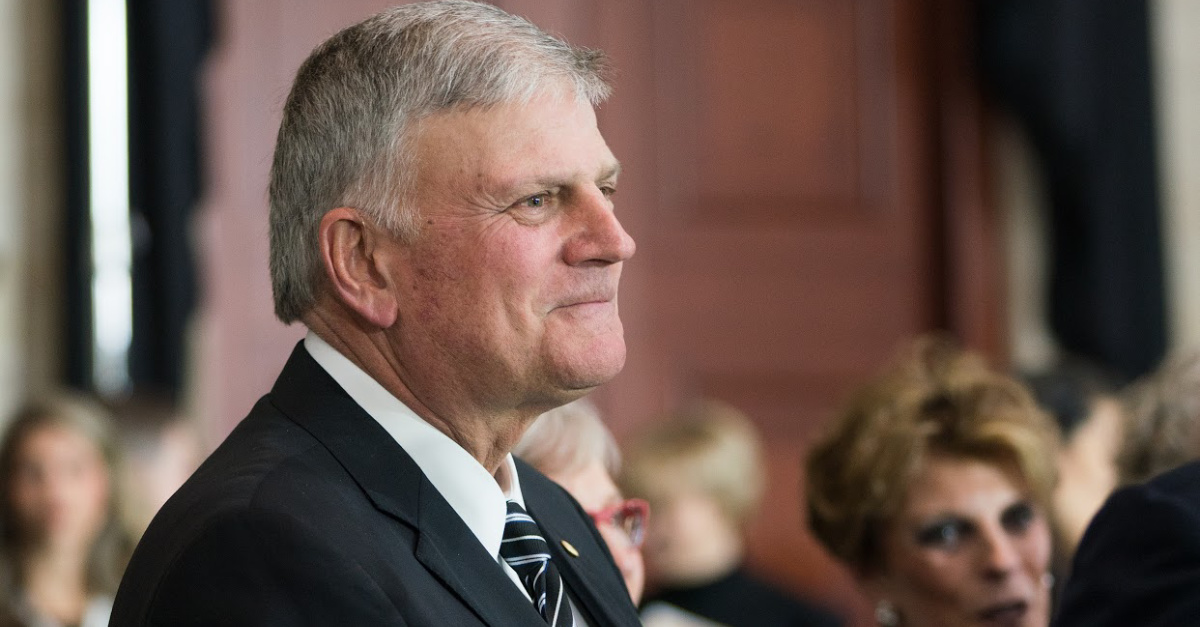 British Arena Boots Franklin Graham over 'Homophobic' Biblical Views