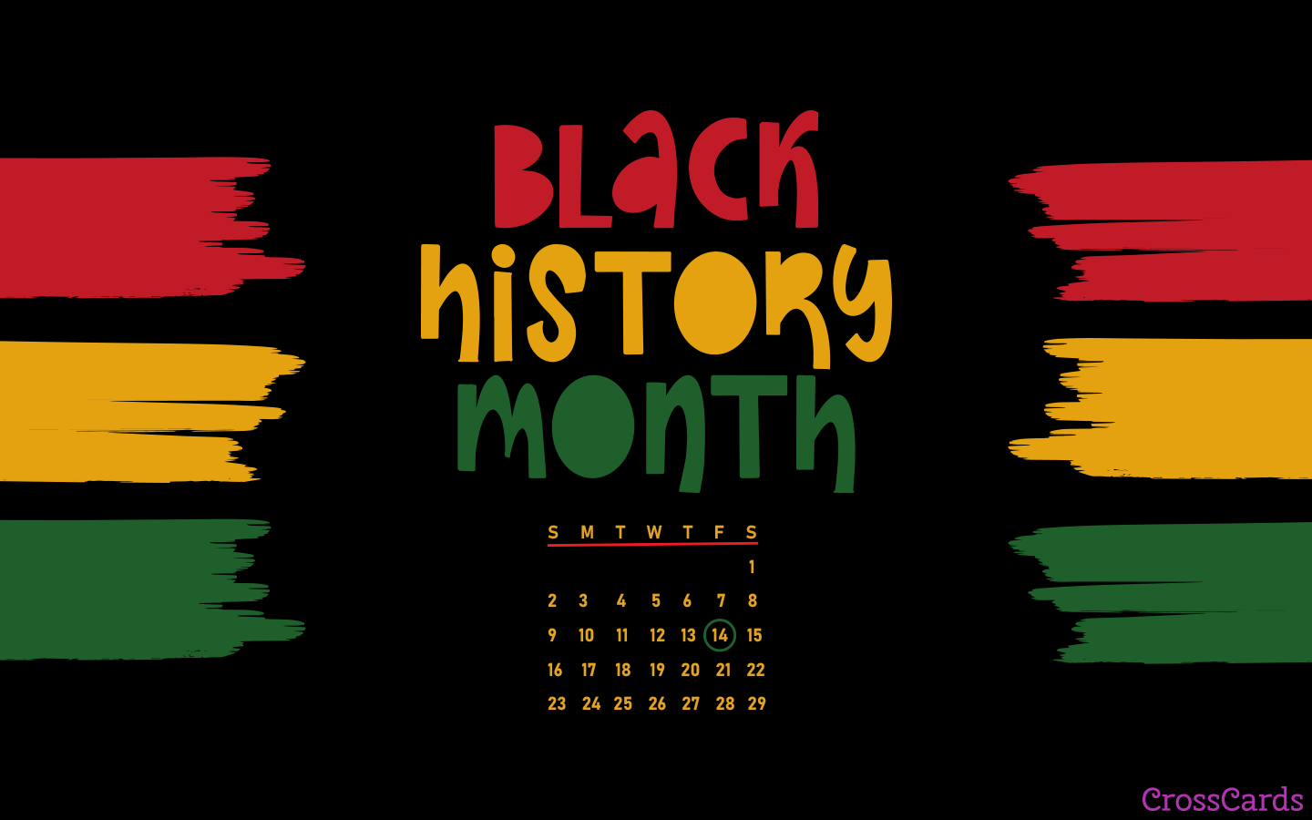 February 2020 - Black History Month mobile phone wallpaper