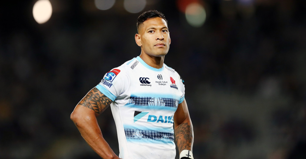 Israel Folau Signs to New Team that Forbids Him from Talking About His Faith