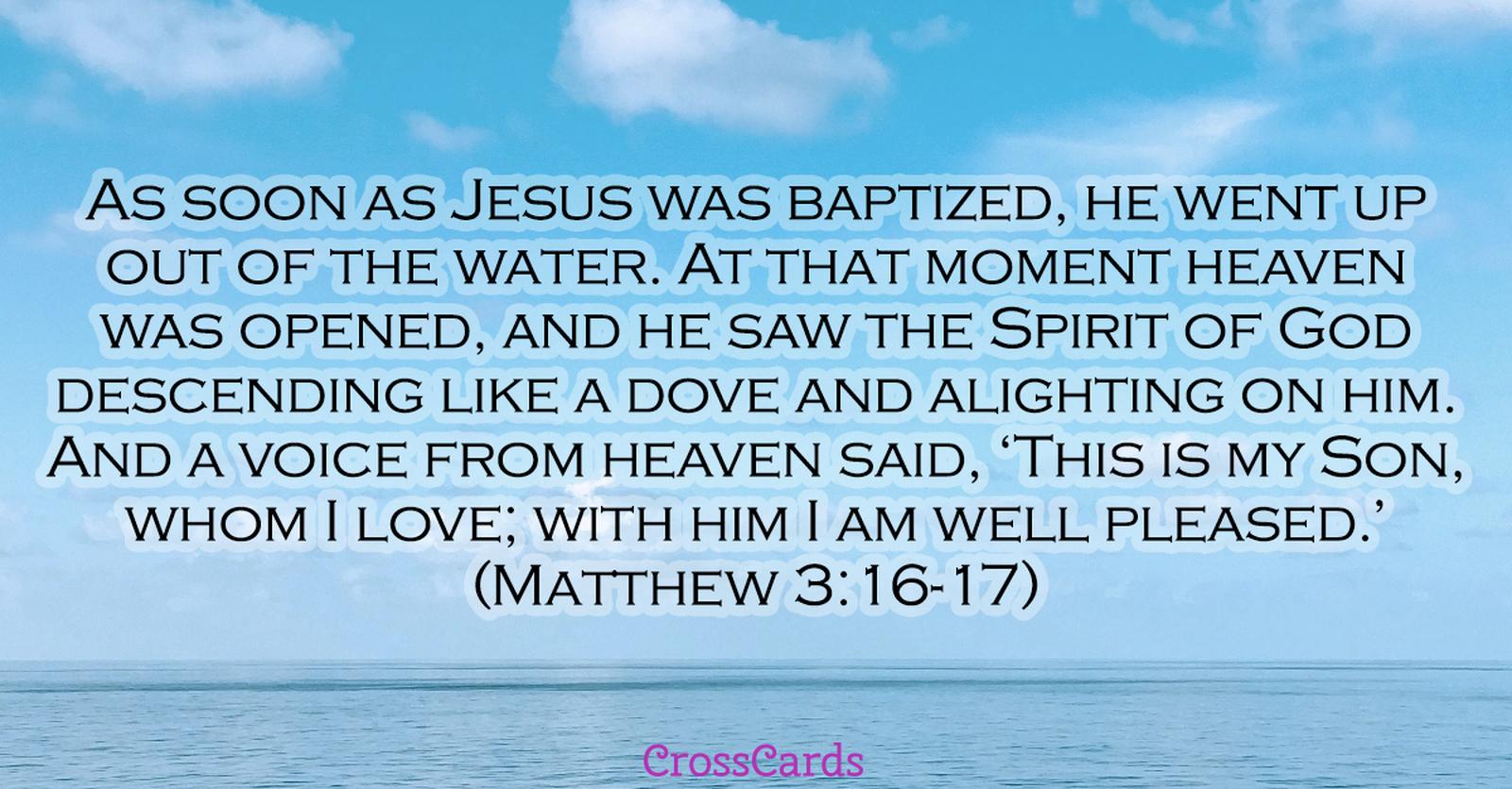 Matthew 3:16-17 ecard, online card