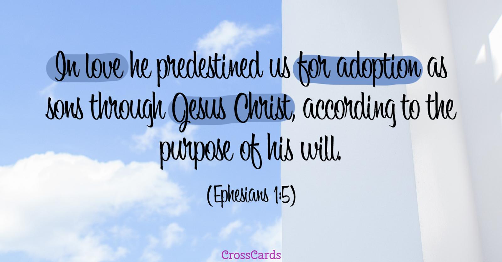 Ephesians 1:5 ecard, online card