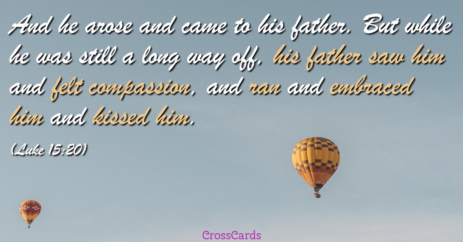 Luke 15:20 ecard, online card