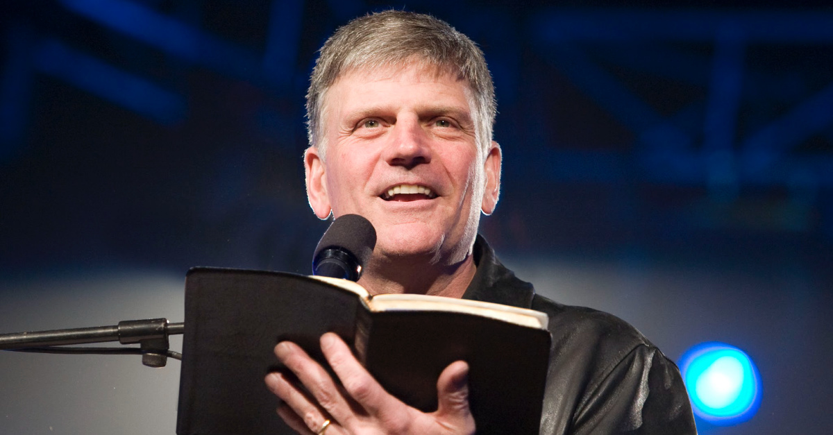 Discrimination against Christians? 7 UK Venues Cancel Franklin Graham Tour