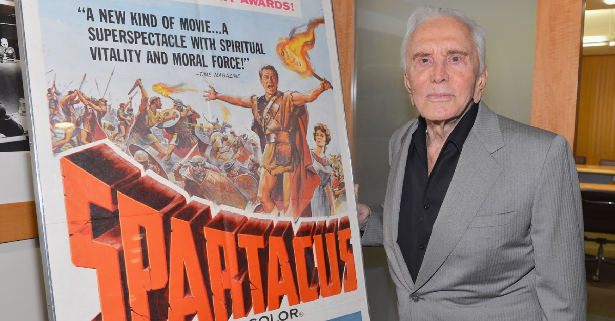 'I Am Spartacus!': The Death of Kirk Douglas and Three Steps to National Healing