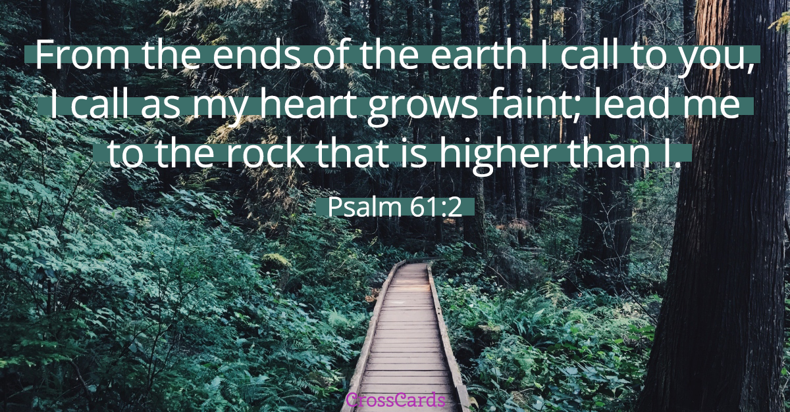 Psalm 61:2 ecard, online card