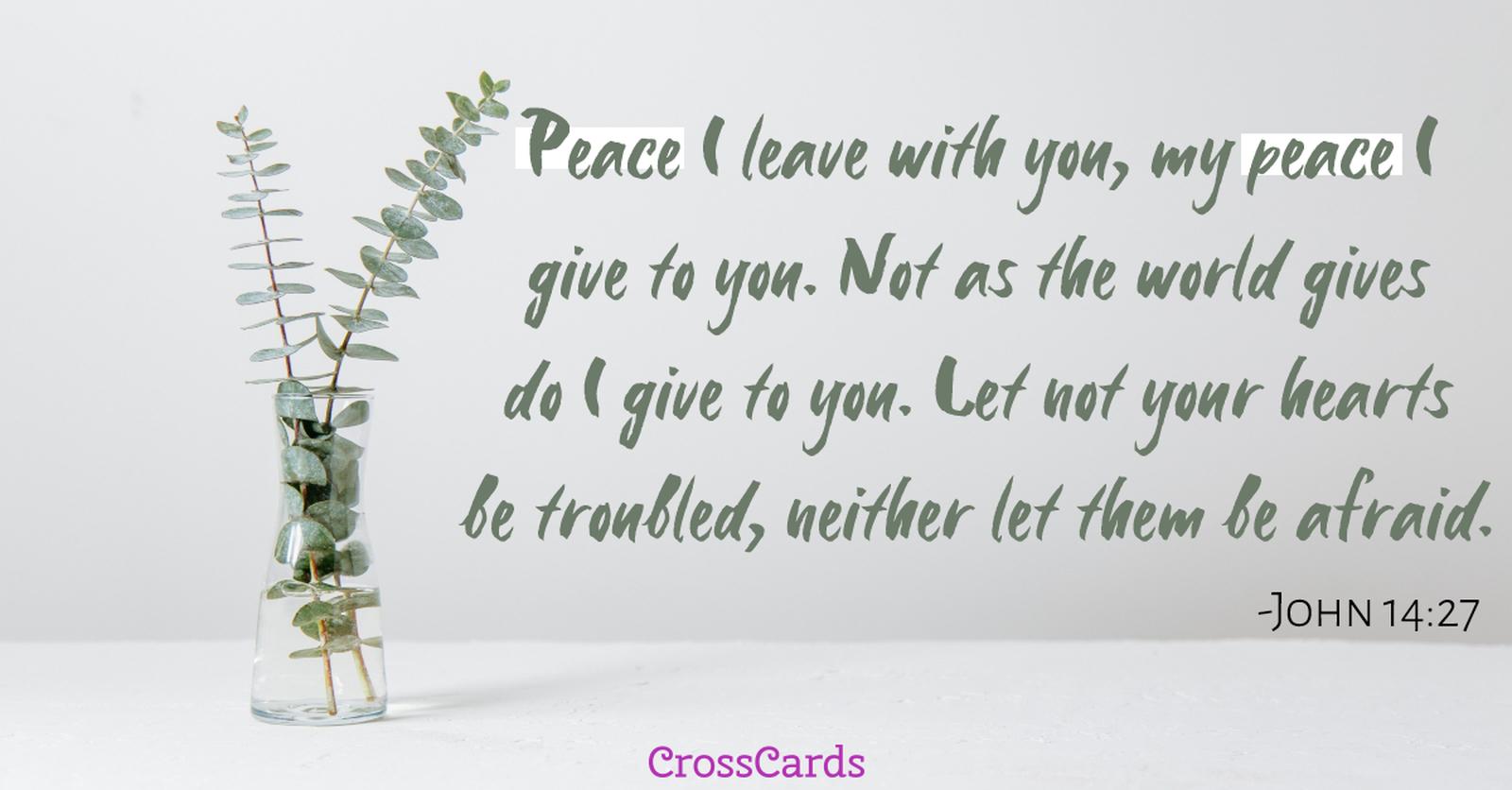 John 14:27 - Peace ecard, online card