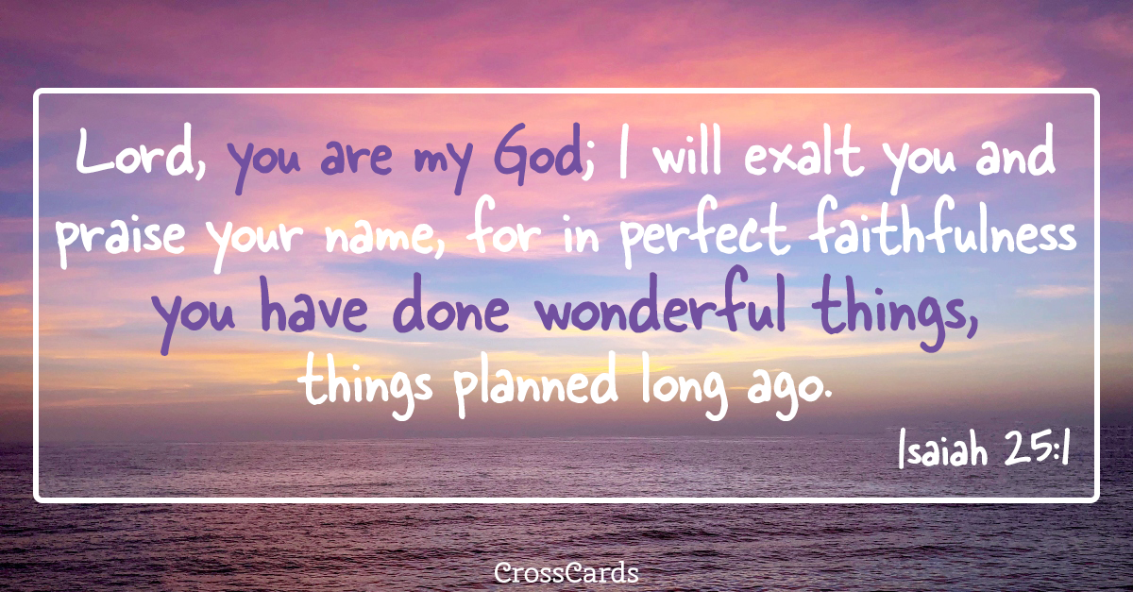 Isaiah 25:1 ecard, online card